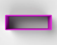 Modern Purple Book Shelf on the Wall Royalty Free Stock Photography