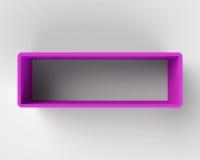 Modern Purple Book Shelf on the Wall. Modern Purple Book Shelf on the Light Gray Wall Royalty Free Stock Photography