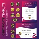 Modern purple certificate background vector illustration