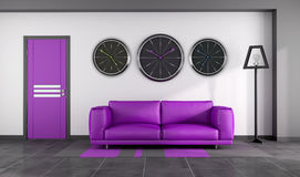 Modern purple interior Stock Photo