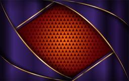 Luxurious purple and orange background royalty free illustration
