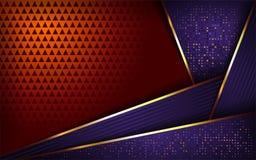 Luxurious purple and orange background stock illustration