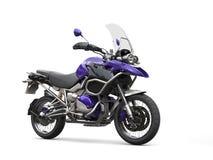 Modern purple road bike with windshield Stock Image