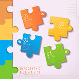 Modern puzzle infographic elements Stock Photo
