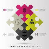 Modern puzzle infographics business concept. Vector Stock Image