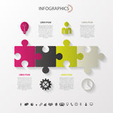 Modern puzzle infographics concept. Vector Stock Photos