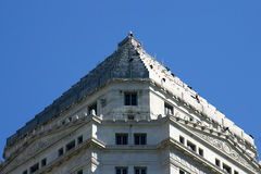 Modern Pyramid. Pyramidical top of Dade County Court House, Miami, Florida with black vultures sunning themselves Stock Photography