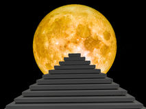 modern pyramid super blood moon Royalty Free Stock Images