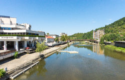 Modern quay river Osam in Lovech, Bulgaria Stock Photography