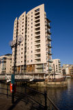 Modern Quayside Apartment Block. A modern quayside apartment block on Cardiff Bay Stock Photos