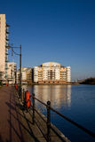 Modern Quayside Apartment Block. A modern quayside apartment block on Cardiff Bay Stock Images