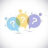 Modern Question mark icon Stock Photos