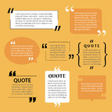Modern quote text template design elements Royalty Free Stock Photography