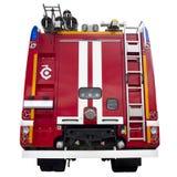 Modern röd firetruck Arkivfoto
