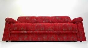modern röd sofa Fotografering för Bildbyråer