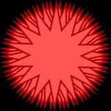 Modern röd stjärna Royaltyfri Fotografi