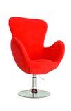 Modern röd stol Arkivbilder