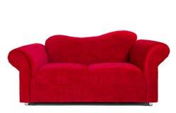 modern röd sofa för torkduk Arkivbild
