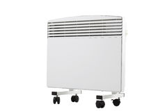Modern radiator on wheels Stock Images