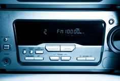 Modern radio front view Royalty Free Stock Images