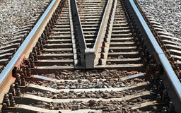 Modern railroad perspective Royalty Free Stock Photos