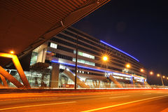 Modern railway station near Frankfurt airport Stock Images