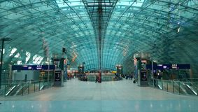 Modern railway station near Frankfurt airport Stock Image