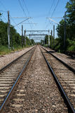 Modern Railway Track stock images