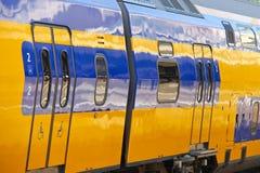 Modern railway train wagons Stock Photos