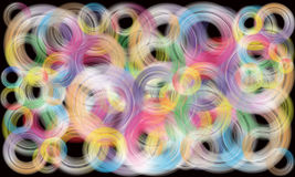 Modern  rainbow circles Royalty Free Stock Photography