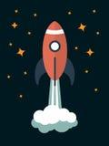 Modern raketillustration för vektor stock illustrationer