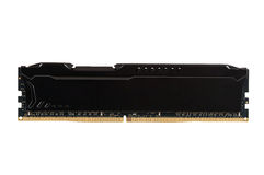 Modern RAM memory module with black radiator Royalty Free Stock Photography
