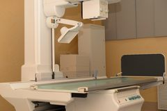 Modern x-ray apparatus. Modern x-ray apparatus is the basis of diagnosis in the clinic Stock Image