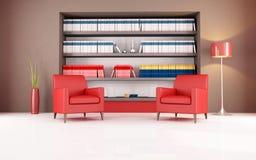 Modern reading room Stock Photos