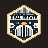 Modern real estate elegant vector label Stock Images