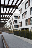 Modern real estate exterior. Modern empty real estate exterior in Poland Royalty Free Stock Photography