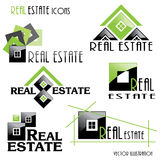 Modern Real estate icons for business design. Vector illustratio Royalty Free Stock Photography
