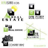 Modern Real estate icons for business design. Stock Image