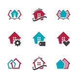 Modern Real Estate-van het het Ontwerpsymbool van het Tekenhuis Vector het Huis Vectorpictogram EPS10 Royalty-vrije Stock Foto's