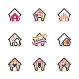 Modern Real Estate-van het het Ontwerpsymbool van het Tekenhuis Vector het Huis Vectorpictogram EPS10 Royalty-vrije Stock Fotografie