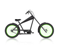 Modern realistic bicycle black. Vector Stock Photography