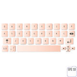 Modern realistic keyboard for smartphone or tablet PC with alpha Royalty Free Stock Photos