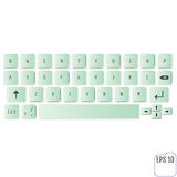 Modern realistic keyboard for smartphone or tablet PC with alpha Stock Photography