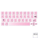 Modern realistic keyboard for smartphone or tablet PC Stock Photo