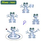 Modern realistisk robotgroda också vektor för coreldrawillustration Cybernetic nano assistenter Futuristiska innovationer som int royaltyfri illustrationer