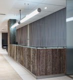 Modern reception interior. In a bank royalty free illustration