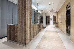 Modern reception interior. In a bank Royalty Free Stock Image