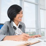 Modern receptionist Royalty Free Stock Photo