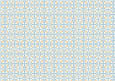Modern Rectangle and Circle Pattern on Pastel Color Stock Image