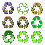 Modern recycle symbol Royalty Free Stock Images